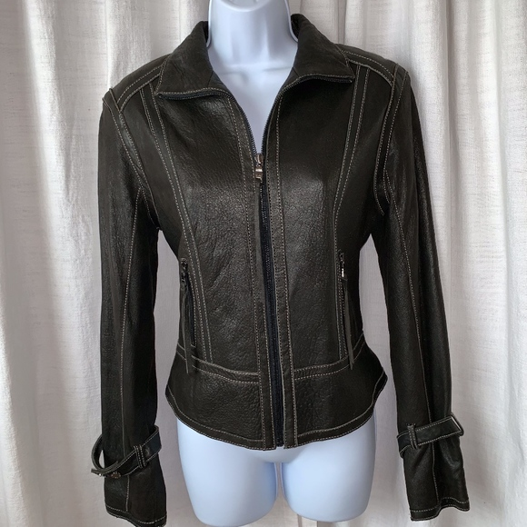 Andrew Marc Jackets & Blazers - NWOT- Marc New York Leather Jacket!!